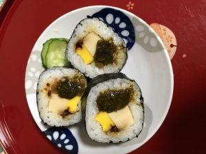 アカモクレシピ 太巻き