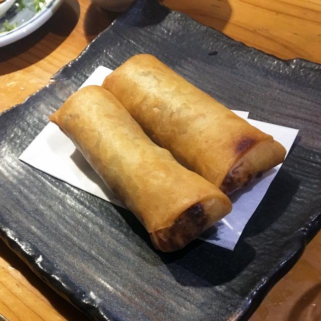 アカモク納豆チーズのねばトロ焼き春巻き