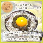 ≪アレンジレシピ公開中≫アカモクと卵黄のしらす丼